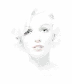 Illustration von Marylin Monroe in 13.809 Quadraten nach einem Foto von Bert Stern - The Last Sitting. ©Foto Estate Bert Stewrn - Illustration adapted with permission by Thomas Junglas