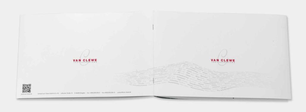 Cover Front- und Rückseite van Clewe Imagebroschüre