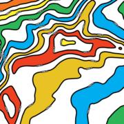Isohypsen als Pop-Art-Kunst