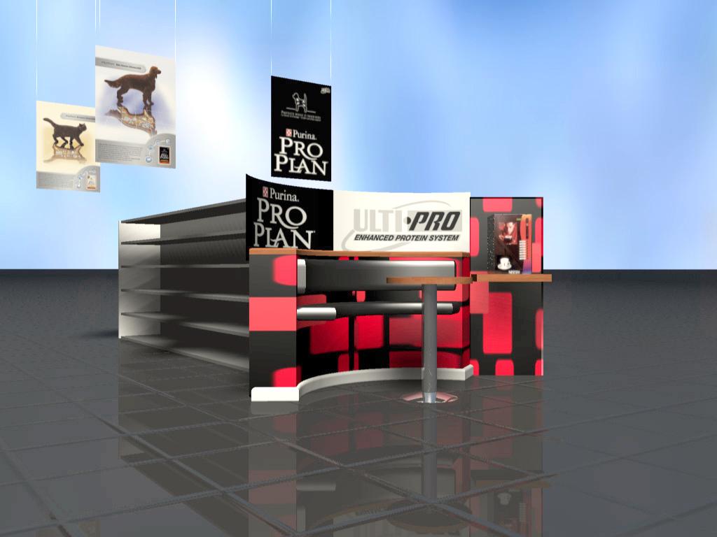 Entwurf und 3-D Visualisierung Nestlé und Purina POS