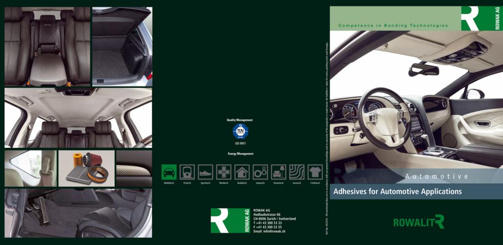 Cover Image- und Produktbroschüre ROWAK/CH